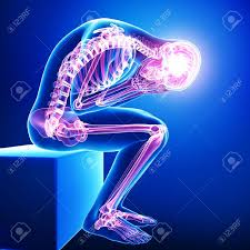 pain body full body pain in blue stock photo picture and royalty free image