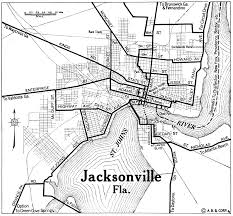 Florida City Map Jacksonville City Map 1922