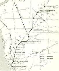 Metrorail Map Forgotten Buffalo Featuring Buffalo Metro Rail 1973