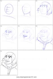 how to draw kenai from brother bear printable step by step drawing