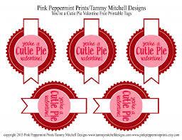 freebie you u0027re a cutie pie valentine free printable valentine tag