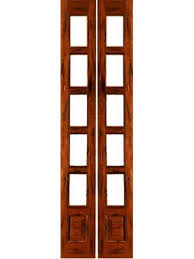 Solid Wood Interior French Doors 5 Lite Interior French Door W Bottom Panel Rustic Solid Wood By