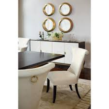 Bernhardt Dining Room Chairs by Crawford Modern Classic Ring Pull Ivory Armchair Pair Kathy