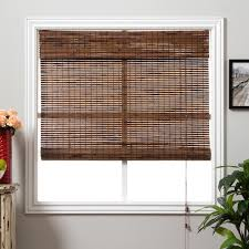 decorating elegant bamboo curtains roman shades lowes with
