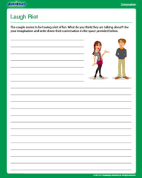 laugh riot free composition worksheet for 4th grade jumpstart
