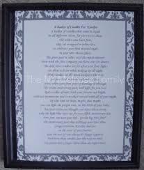 wedding shower poems bridal shower gift candle poem basket the family