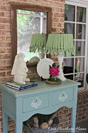 diy no sew lamp shade our southern home