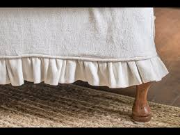 How To Make A Table Skirt by How To Make A Slipcover Old Version Part 6 Sewing The Skirt