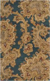 Paisley Area Rugs Sea Floral And Paisley Area Rug Blue Brown