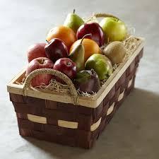 fruit basket gift assorted fruit basket large williams sonoma