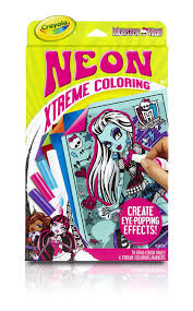 amazon com crayola neon extreme monster high coloring kit toys