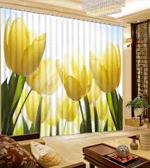 Home Decor Yellow by Online Get Cheap Yellow Floral Curtains Aliexpress Com Alibaba
