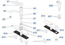 kitchen faucet drips delta faucet repair parts diagram 100 400 series kitchen