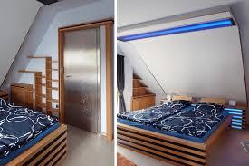Schlafzimmer Bett Buche Design Möbel Bett In Holz Glas Metal