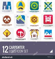 carpenter home builder logo vector set stock vector 632611241