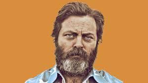 Handlebar Mustache Meme - nick offerman on beards wood working and going full bush