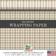 tartan wrapping paper tartan custom wrapping paper from pineandberryshop on etsy studio
