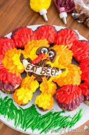 thanksgiving turkey cupcake cake s kitchen