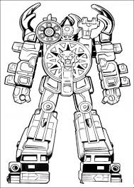 power ranger robot knight power ranger robot coloring pages