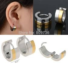 mens huggie earrings 1pair mens women 316l stainless steel huggie hoop earrings