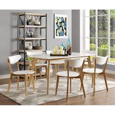 Modern Wood Dining Room Tables Walker Edison 60