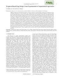 fragment based drug design from experimental to computational