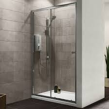 plumbsure single sliding shower door w 1200mm departments diy
