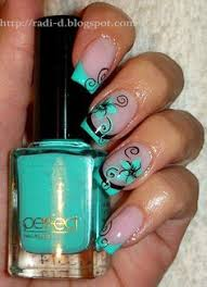 calypso french nail design by fabiola campbell chile my nail