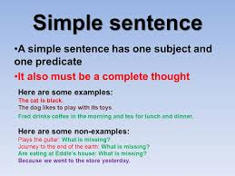 simple and compound sentences ppt