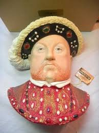1990s bossons henry viii large handpainted wall ornament