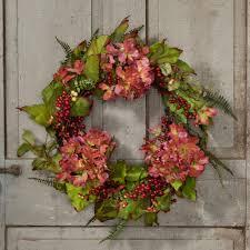 hydrangea wreath pink hydrangea wreath sturbridge yankee workshop