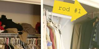 How To Organize Clothes Without A Closet 7 Awesome Organizing Hacks For Your Tiny Closet Huffpost