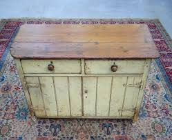 Antique Jelly Cabinet Antique Primitive Southern Pine Yellow Paint Pie Safe Jelly