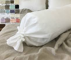 bolster bed pillows bolster pillow case multiple color choices crushed linen crush