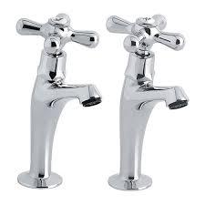 Bentley High Neck Pair Of Kitchen Sink Pillar Taps - Kitchen sink pillar taps