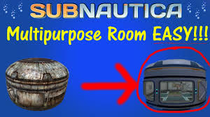 Multi Purpose Room Subnautica How To Get A Multipurpose Room Blue Prints And