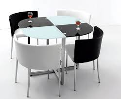 Black And White Dining Room Sets Black And White Space Saving Dining Room Table And Chairs Home
