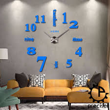 wholesale home english letters arabic digital wall clock modern install instructions