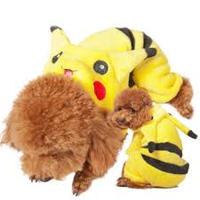 pokemon go funny cartoon halloween dog pikachu costume cloth pet