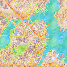 Street Map Of Boston by Colorful City Tracking Maps Launch Under Creative Commons