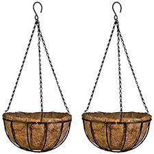 hanging planter basket amazon com kingbuy black growers hanging basket planter with chain