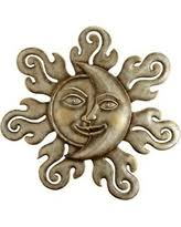 amazing shopping savings rising sun garden wall plaque