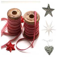 nice christmas decoration ideas with perfect pink ribbon for tied