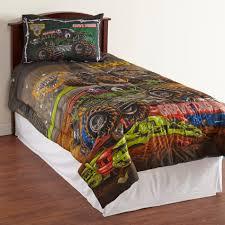 monster jam boy u0027s microfiber comforter monster trucks