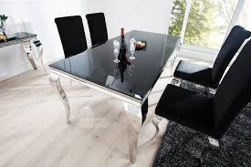 Table Verre Pied Central by Tables Repas Royale Deco