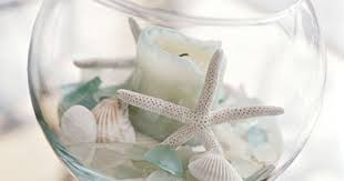 Seashell Centerpiece Ideas by Sea Shell And Candle Centerpiece Nautical U0026 Beach Theme