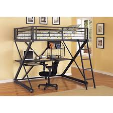 ZBedroom Full Loft Study Bunk Bed Black Sams Club - Study bunk bed