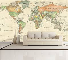map mural antique oceans political map wall mural miller projection