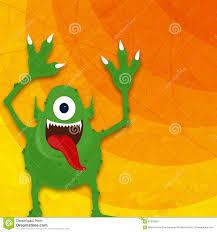 Monster Halloween Party Horrible Monster For Halloween Party Stock Illustration Image