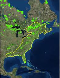 East America Map by Eastern Wildway Wildlands Network
